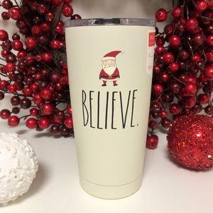 New Rae Dunn Christmas Believe Travel Mug